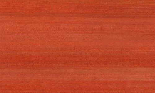 桧ツキ板 柾目 0.6mm厚 30*15cm 染色赤