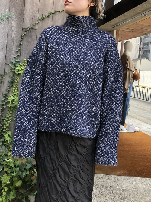 【20AW】3.1Phillip Lim スリーワンフィリップリム / Bouclé Jacquard Mock Neck Sweater