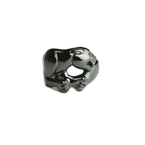 Rhomvas/ロンヴァス Panther with red eye ring(Gun metallic)