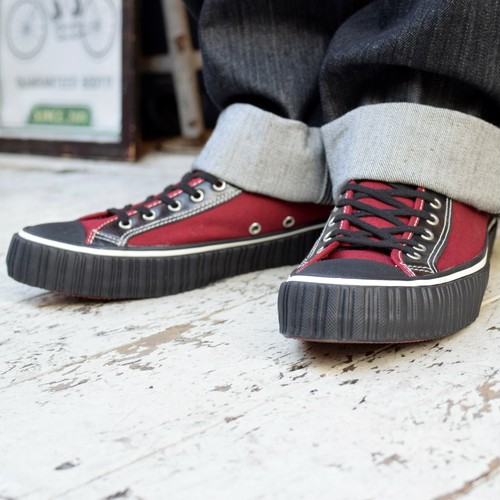 """AT-DIRTY(アットダーティー)/SNEAKER MODEL """"MILE"""" Type : LOW(BURGUNDY)"""