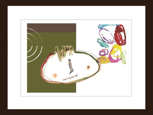 プリント額絵:しゅんすけ作「緑のしゅんぼう」