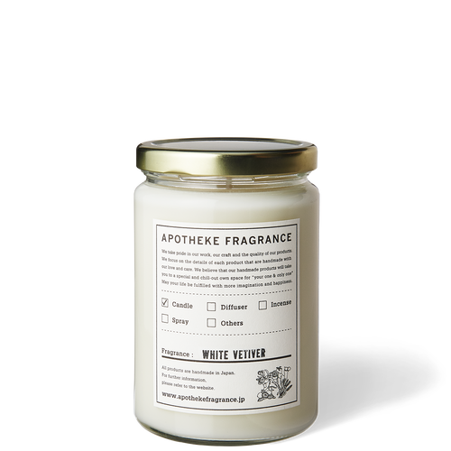 GLASS JAR CANDLE / White Vetiver
