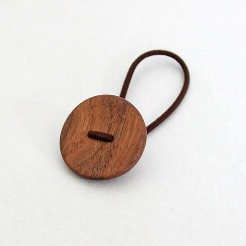 木のヘアゴム もくぼたん(小)Black Walnut