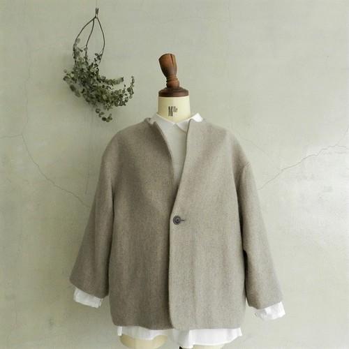 Paradis Tweedy wool short coat