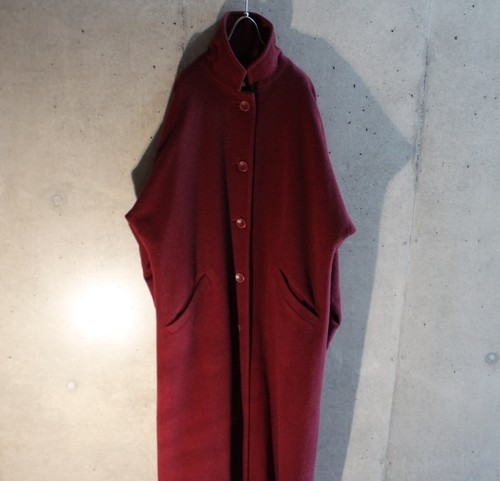 Wool Poly Stand Collar Design Coat
