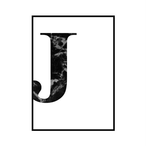 """J"" 黒大理石 - Black marble - ALPHAシリーズ [SD-000511] A2サイズ ポスター単品"