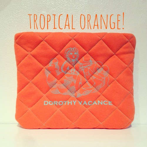 Quilting Clutch Bag ♡TROPICAL ORANGE!♡