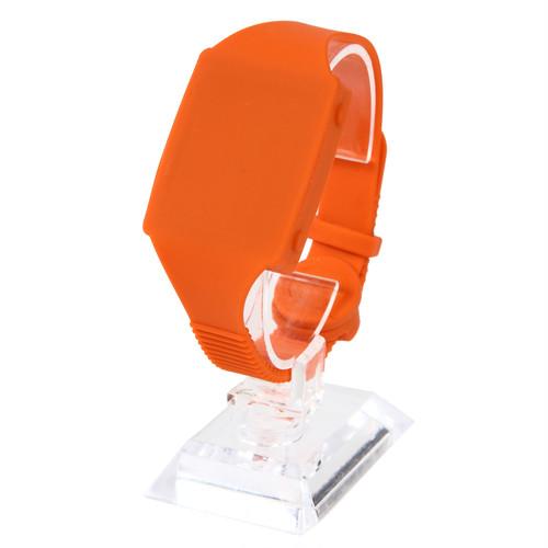 """触感時計""""タックタッチ"""" 腕時計型 ピュア・オレンジ 針も文字板も表示も音も無い、触感(振動)で時刻を伝える全く新しい感覚の時計です。"""