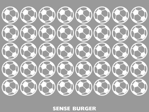 給油口にオススメ! サッカーボール サッカー soccer BALL 車に貼り付け 目立つ インパクト おしゃれ シール ステッカー デカール エンブレム カスタム  白 ホワイト【sti08411whi】