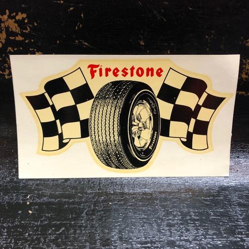 60's Firestone 水張りステッカー 水貼りデカール ビンテージ HOT ROD ホットロッド ファイヤーストーン