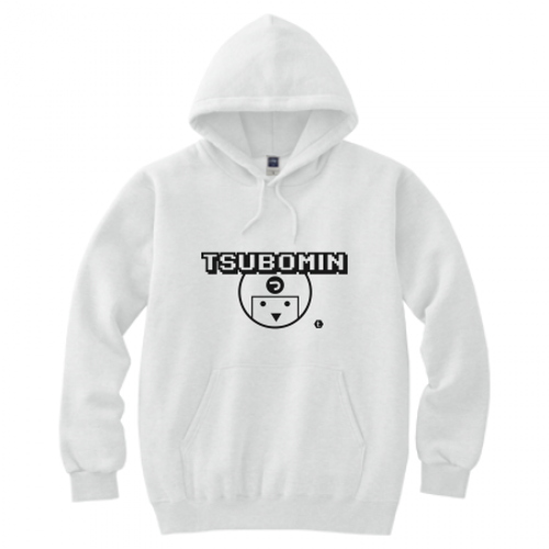 TSUBOMIN / TSUBOMIN ICON HOODED SWEATSHIRT WHITE