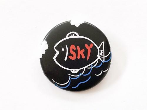 缶バッジ・SKY FISH/BLACK(単品売)