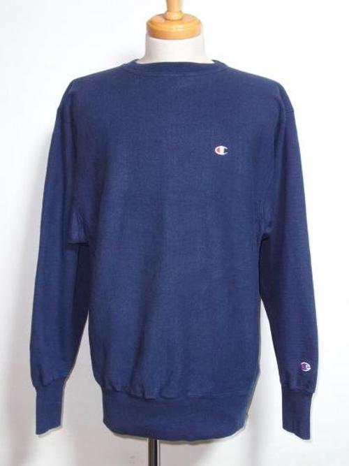 1990's Champion リバースウィーブ USA製 刺繍タグ ネイビー無地 表記(XL) チャンピオン