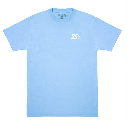 QUARTERSNACKS / SAFARI SNACKMAN CHARITY TEE -CAROLINA BLUE-
