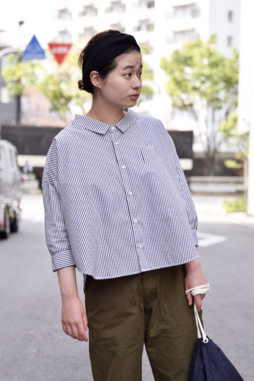 【ORDINARY FITS】 BARBER SHIRTS stripe/OF-S28