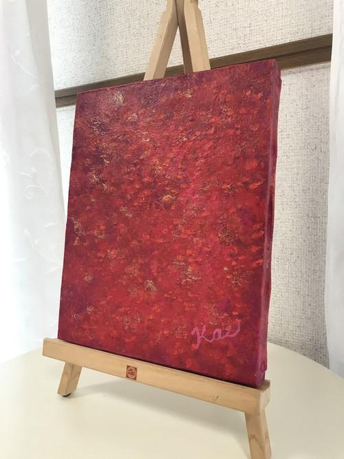 絵画(アクリル画) Calm Red (静かなる赤)