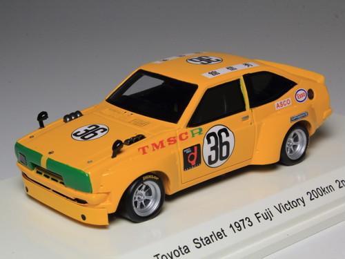 Reve Collection トヨタ スターレット 1973年 富士ビクトリー200Km 2位 #36 館 信秀