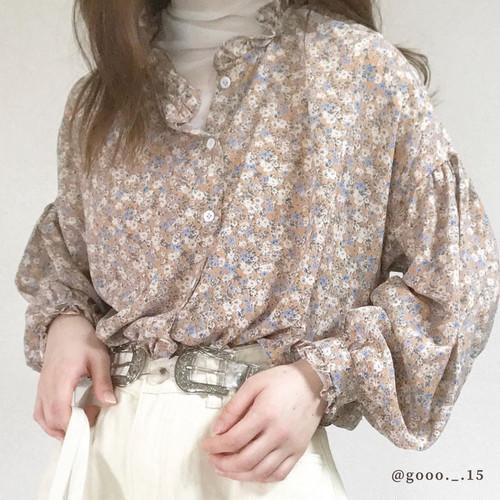 ダスティーフラワーシャツ RR006