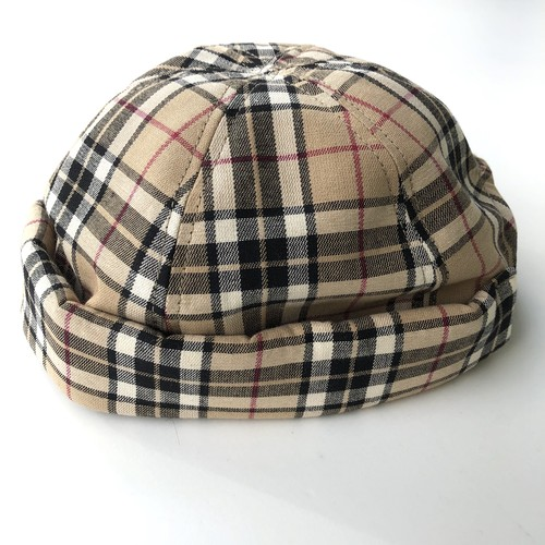 All handmade Fisherman Cap BEIGE CHECK