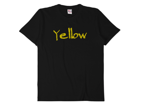 "【受注発注】words color series ""Yellow"" T-shirt /全3色"