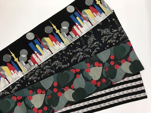 【受注用ページ】オリジナル西陣織半幅帯:両面リバーシブル