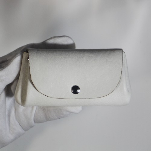 ジャバラウォレットミニ 白(アコーディオン財布・コインケース付きミニ財布)