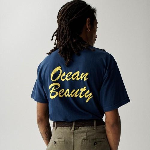 Ocean Beauty Pocket Tee(True Navy)