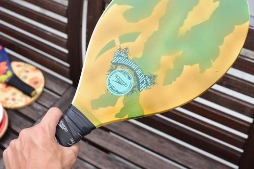 Raquete Frescobol Speedo Semi-pro Buddha Beach(Yellow&Green)