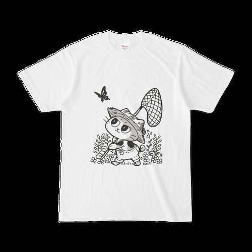 虫採りをする猫Tシャツ