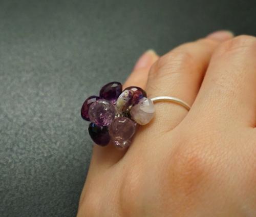 紫水晶のまぜこぜリング その② Mサイズ(12~13号)