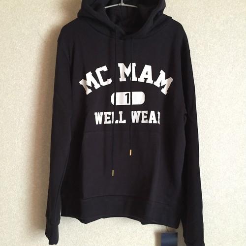 McMamWell college print hoodie
