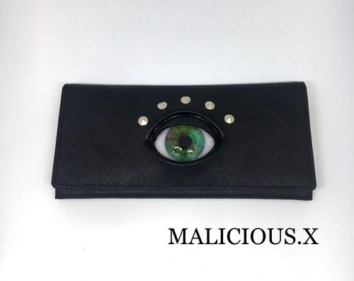 eye wallet / green marble