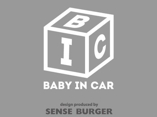 サイコロ BABY IN CAR NBOXに貼り付け ステッカー デカール カッティングシート シール 赤ちゃんが乗っています ベイビーインカー ベビーインカー 白 ホワイト【sti00111whi】
