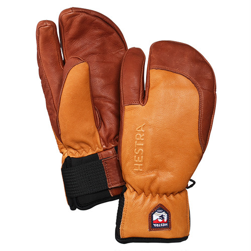 HESTRA GLOVE ヘストラ グローブ 33872  3-FINGER FULL LEATHER SHORT 710750 Cork/Brown