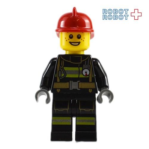 レゴ LEGO ミニフィグ 消防士 赤ヘルメット