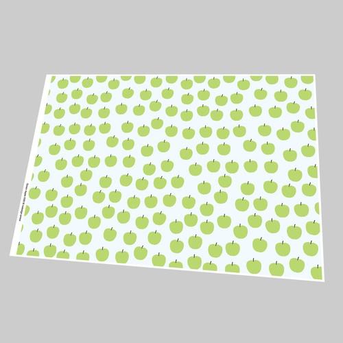 "A4 PDF ""4 Fruit Patterns""「A4包装紙 Fruits」"