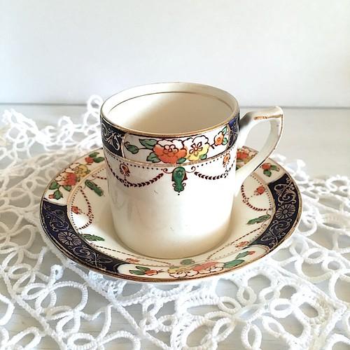 Antique デミタスカップ&ソーサー/OSIRIS SOLWAY