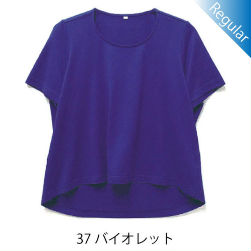 半袖丸首Tシャツ / 37バイオレット / 身長152cm→142cm / アイラブグランマ・スムースネック / 型番TC02-152