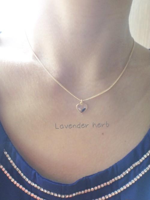 本物 Lavender herb ネックレス