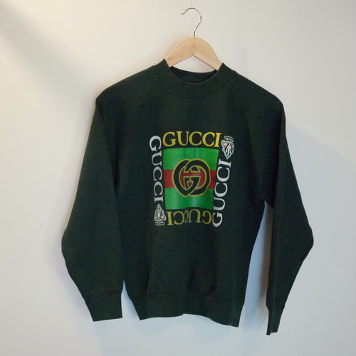 "GUCCI Bootleg 1990's Sweat SizeM(LADIE'S) ""Green"""