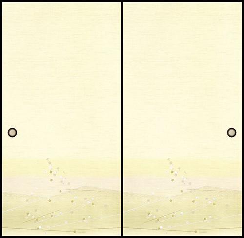 吉兆119(1枚柄) 織物ふすま紙 203cm×100cm 1枚