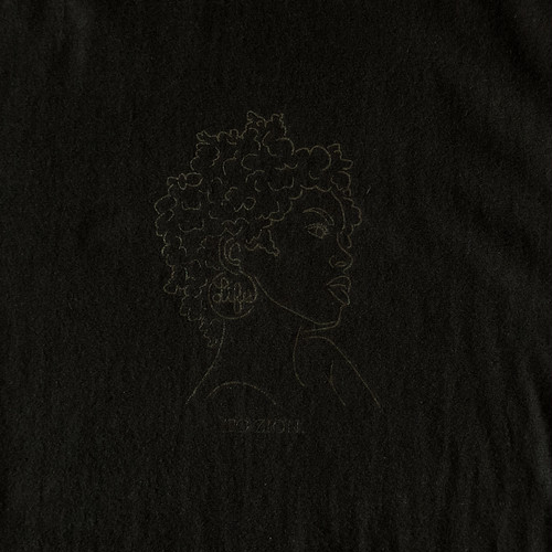 TO ZION LOGO TEE / LIFEdsgn (BLACK OUT)