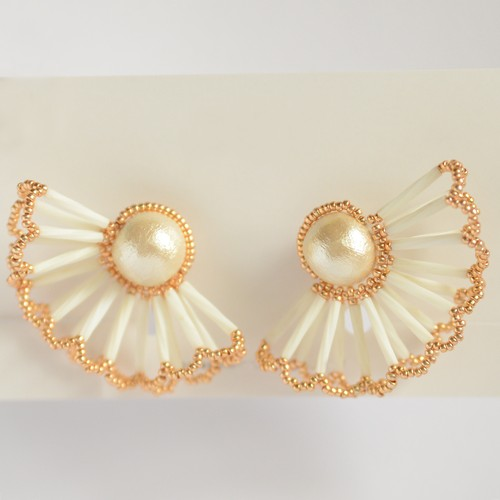 Pearl Lace Earrings(LLサイズ)