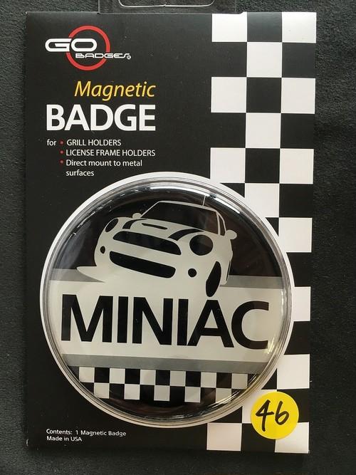 46番 ゴーバッジ MINIAC BLACK