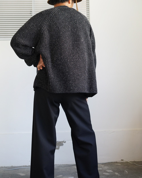 <STYLING> ⇨ JAN JAN VAN ESSCHE - STRIPED, LOOSE FIT KNITTED CREW NECK SWEATER