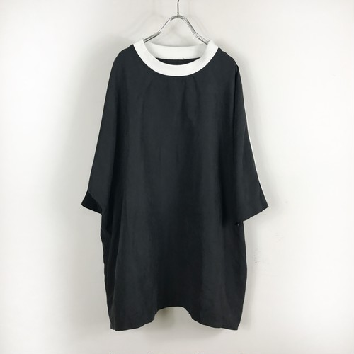 ラスト3枚 keisukeyoneda shoulder loess line over tee  Black