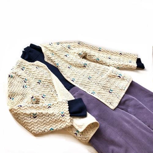 """Vera Neumann"" Ivory Cotton Pile Jacket / コットンパイルカーディガンジャケット"