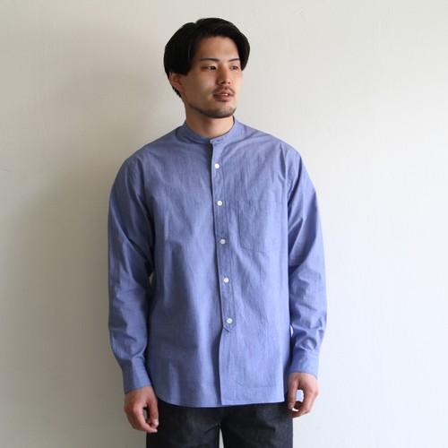 STILL BY HAND【mens】  sucker band-collar shirts