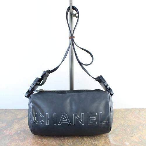 CHANEL SPORT LINE COCO MARC SHOULDER BAG MADE IN ITALY/シャネルスポーツラインドラム型ココマークショルダーバッグ