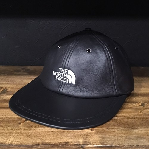 【SUPREME×THE NORTH FACE】 -シュプリーム-FW18 LEATHER 6-PANEL CAP BLACK